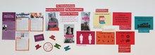 Frauenaktionswand zu 100 Jahre Frauenwahlrecht und gleichstellungsrelevanten Themen