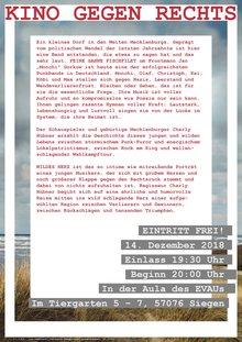 """Kino gegen Rechts mit dem Dokumentarfilm """"Wildes Herz"""" von Charly Hübner"""