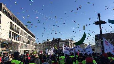 Stark vertreten bei der Kundgebung in Hamm
