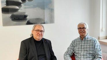 Im Interview der Geschäftsführer der DGB-Region Südwestfalen, Ingo Degenhardt und ver.di-Geschäftsführer im Bezirk Südwestfalen, Jürgen Weiskirch.