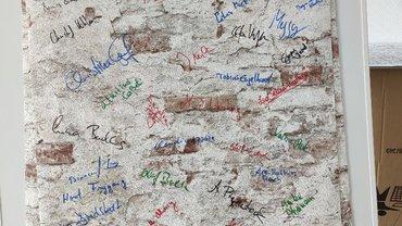 Die Wand der Solidarität rollt bei der Stadt Hagen