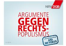 DGB: Argumente gegen Rechts! Dritte Auflage - AfD im Fokus