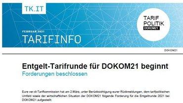 Tarifinfo DOKOM21 - Forderung steht - Teaser